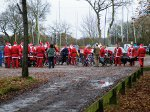 Santas in Pleasure Boat Car Park